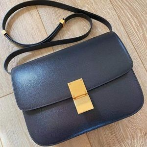 Celine Paris med anthracite calfskin classic bag